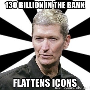Tim Cook Time - 130 BILLION IN THE BANK FLATTENS ICONS