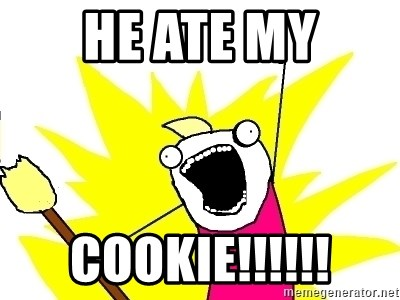 X ALL THE THINGS - HE ATE MY COOKIE!!!!!!