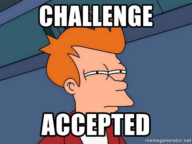 Futurama Fry - Challenge Accepted