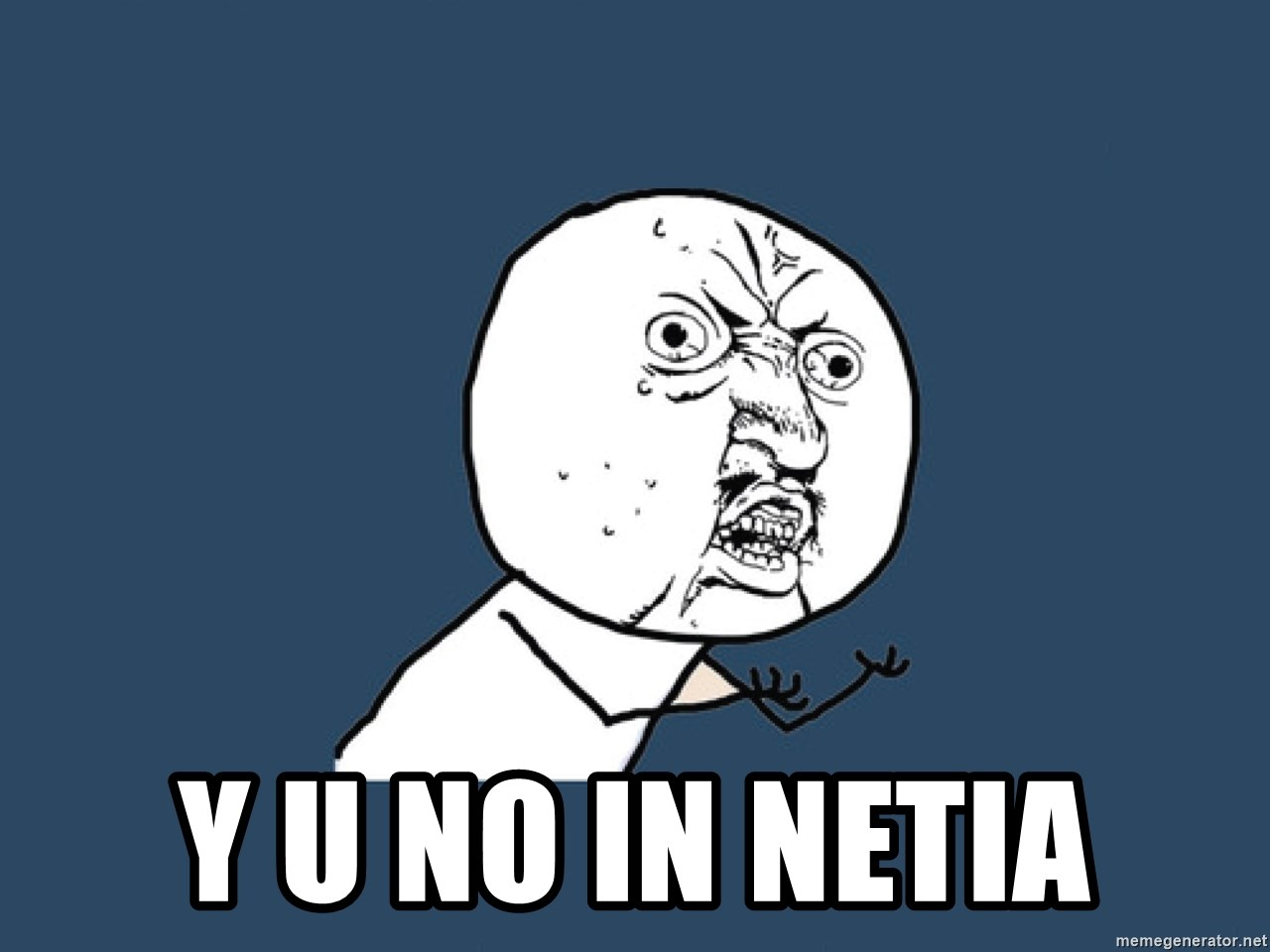 Y U No -  y u no in Netia