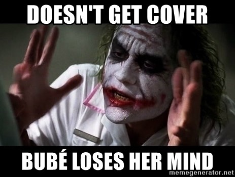 joker mind loss - doesn't get cover bubé loses her mind