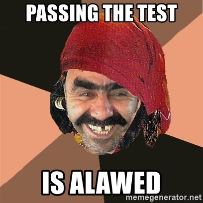 Provincial-gadalka - PASSING THE TEST IS ALAWED