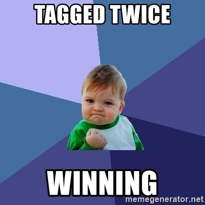 Success Kid - Tagged twice winning