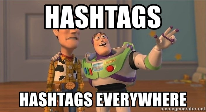 Toy Story Everywhere - Hashtags Hashtags everywhere
