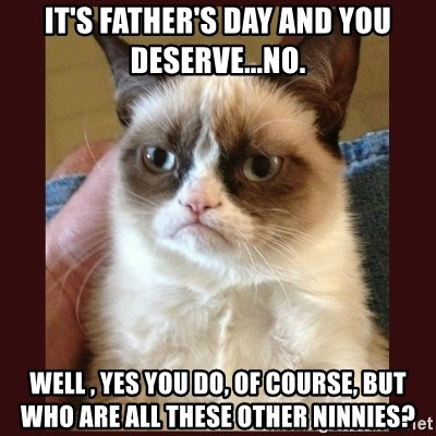 Tard the Grumpy Cat - It's father's day and you deserve...NO. well , yes you do, of course, but who are all these other ninnies?
