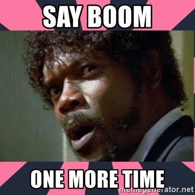 samuel l jackson, pulp fiction - say boom one more time