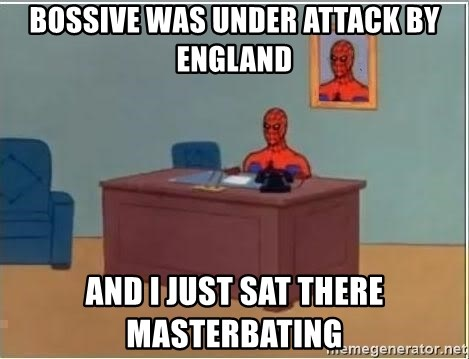 Spiderman Desk - Bossive was under attack by England and i just sat there masterbating