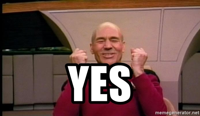 Yes Jean Luc Picard Full Of Win No Text Meme Generator