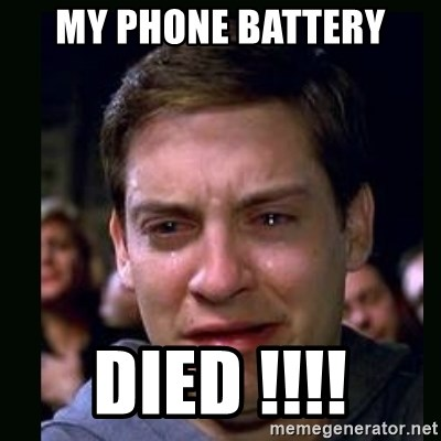 crying peter parker - MY PHONE BATTERY DIED !!!!