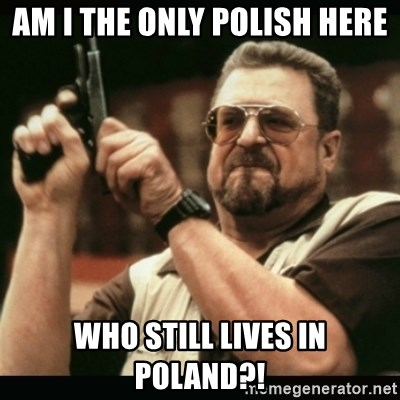 am i the only one around here - AM I THE ONLY POLISH HERE WHO STILL LIVES IN POLAND?!