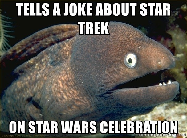 eel - tells a joke about star trek on star wars celebration