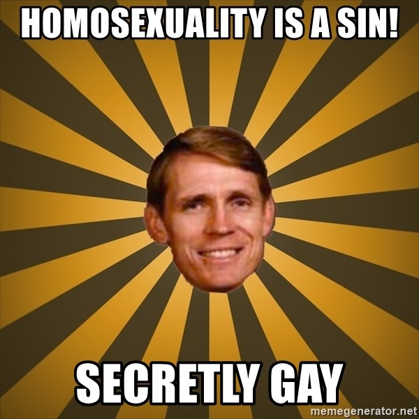 typical creationist - HOMOSEXUALITY IS A SIN! secretly gay