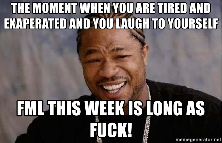 Yo Dawg - The moment when you are tired and exaperated and you laugh to yourself FML this week is long as fuck!