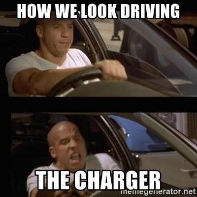 Vin Diesel Car - HOW WE LOOK DRIVING  THE CHARGER