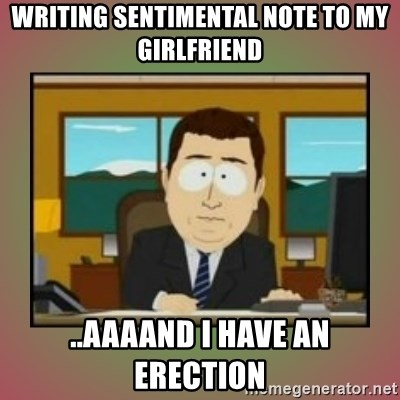 erection with girlfriend