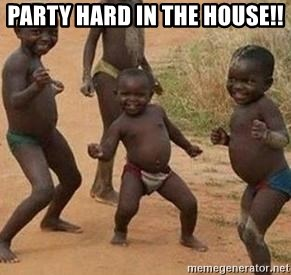 african children dancing - PARTY HARD IN THE HOUSE!!