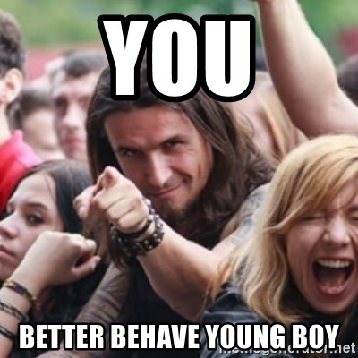Ridiculously Photogenic Metalhead - YOU better behave young boy