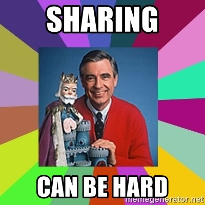 mr rogers  - SHARING CAN BE HARD
