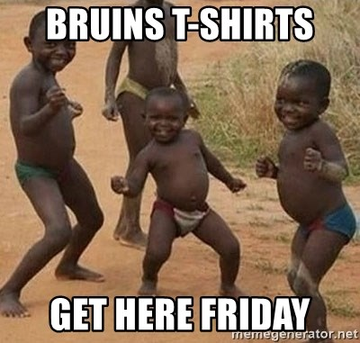 Happy african kids - BRUINS T-SHIRTS  GET HERE FRIDAY