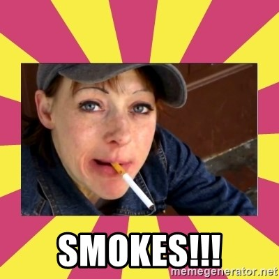 Patricia (Patty) Downtown Eastside Vancouver, BC - SMOKES!!!