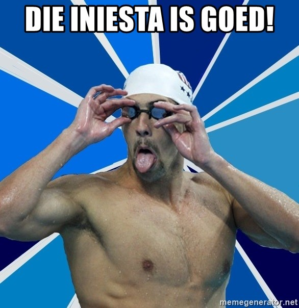 Ordinary swimmer - DIE INIESTA IS GOED!