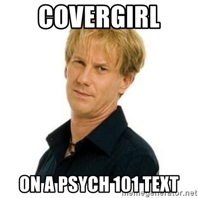 Stupid Opie - covergirl  on a psych 101 text
