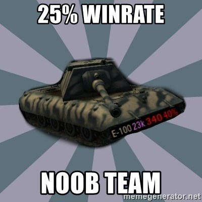 TERRIBLE E-100 DRIVER - 25% Winrate Noob team