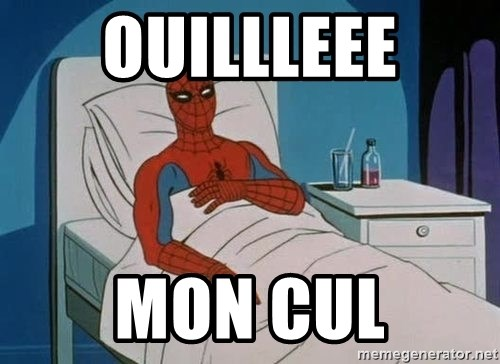 spiderman hospital - ouillleee mon cul