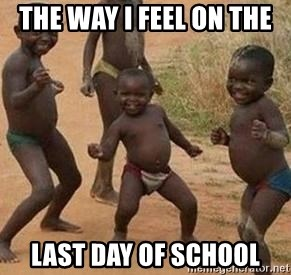 african children dancing - THE WAY I FEEL ON THE  LAST DAY OF SCHOOL