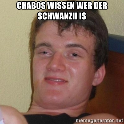 Really Stoned Guy - CHABOS WISSEN WER DER SCHWANZII IS