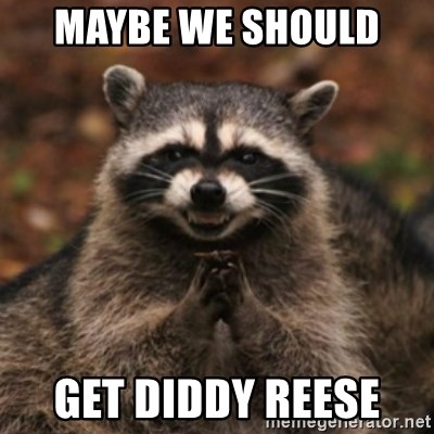 evil raccoon - Maybe we should  Get Diddy Reese