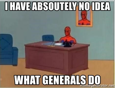 Spiderman Desk - i have absoutely no idea what generals do