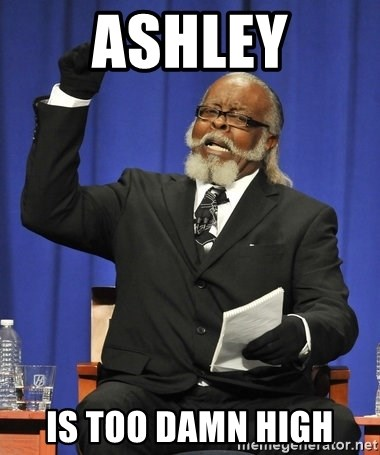 Rent Is Too Damn High - Ashley Is too damn high
