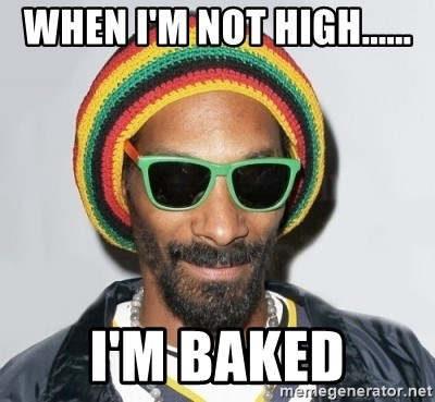Snoop lion2 - when I'm not high...... I'm baked