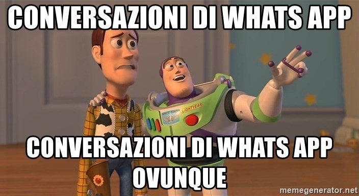 Toy Story Everywhere - CONVERSAZIONI DI WHATS APP CONVERSAZIONI DI WHATS APP OVUNQUE