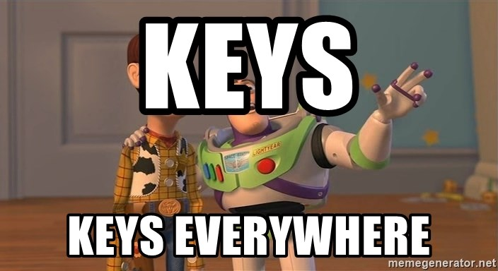 Anonymous, Anonymous Everywhere - Keys keys everywhere