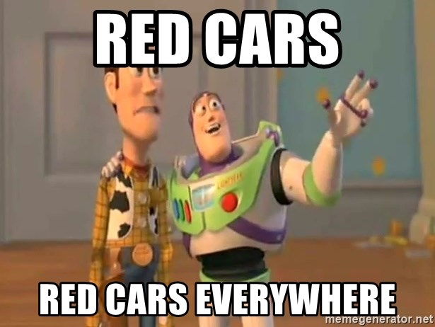 X, X Everywhere  - RED CARS RED CARS EVERYWHERE