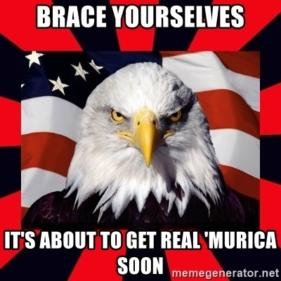 Bald Eagle - Brace yourselves It's about to get real 'MURICA soon