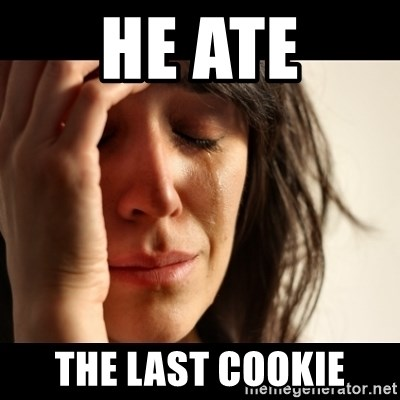 crying girl sad - HE ATE THE LAST COOKIE