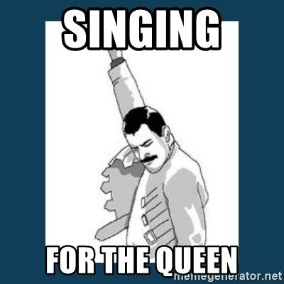 Freddy Mercury - singing  for the queen