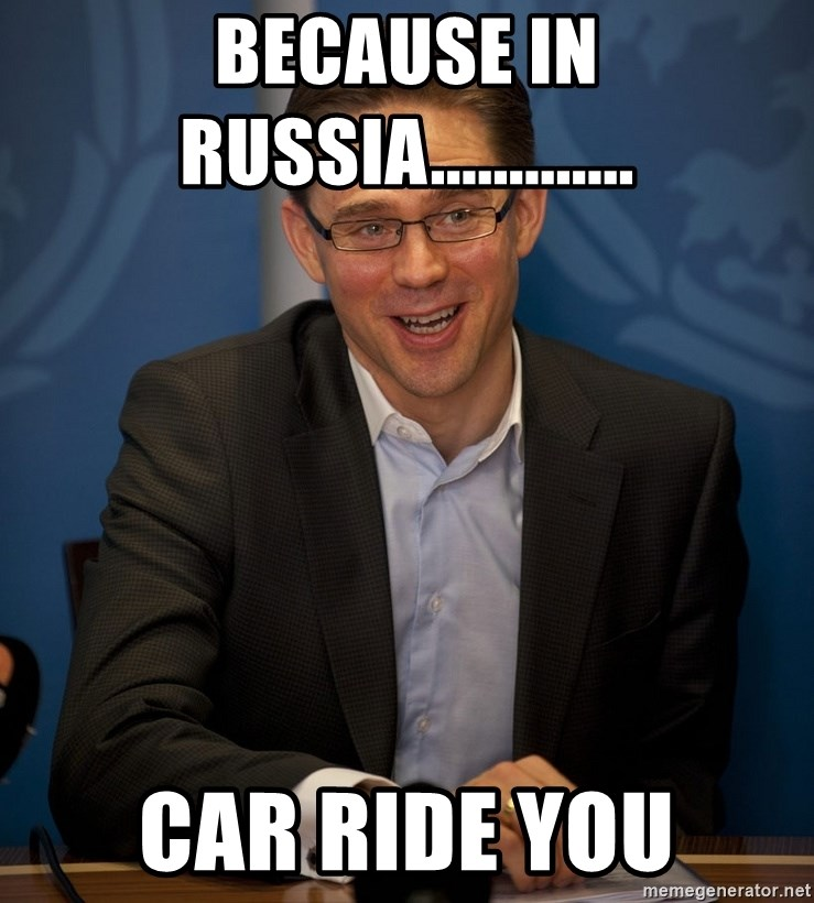 Katainen Perkele - Because in russia............. car ride you