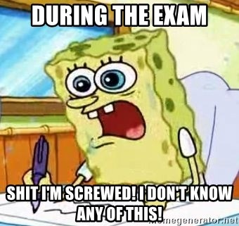 Spongebob What I Learned In Boating School Is - during the exam shit i'm screwed! i don't know any of this!