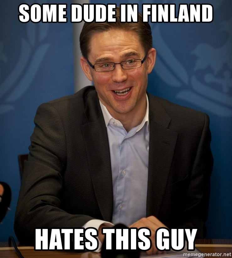 Katainen Perkele - some dude in finland hates this guy