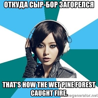 Crafty Interpreter - ОТКУДА СЫР-БОР ЗАГОРЕЛСЯ That's how the wet pine forest caught fire.