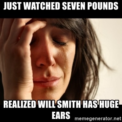 crying girl sad - Just watched Seven Pounds Realized Will Smith has HUGE ears