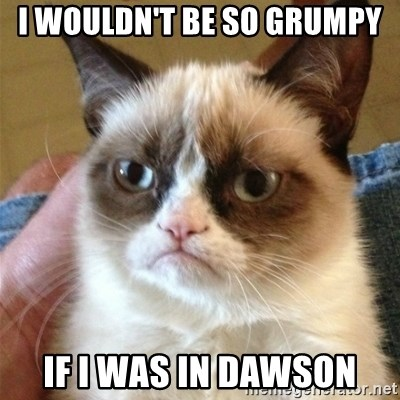 Grumpy Cat  - I wouldn't be so grumpy If I was in Dawson