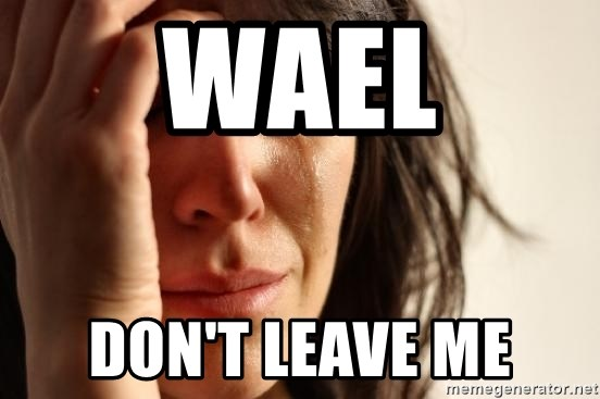 First World Problems - WAEL DON'T LEAVE ME