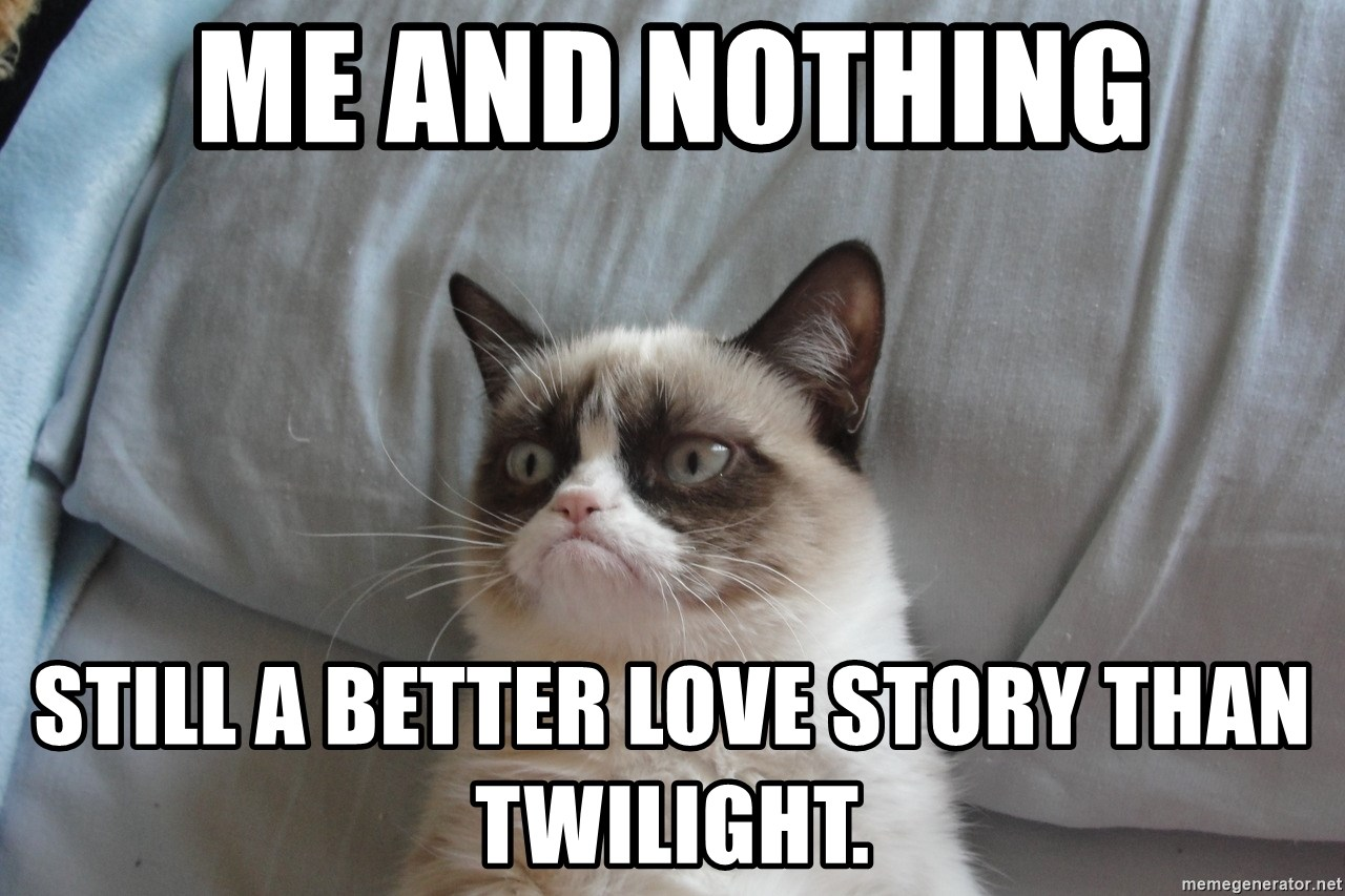 good grumpy cat 2 - me and nothing still a better love story than twilight.