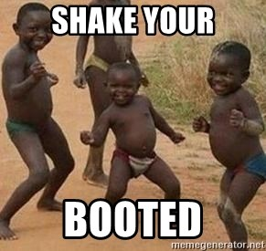 african children dancing - SHAKE YOUR BOOTED