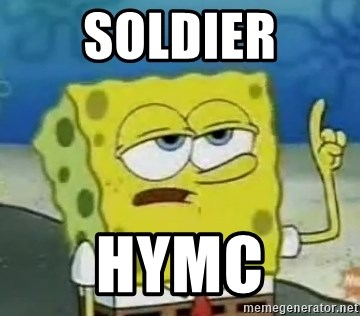 Tough Spongebob - soldier Hymc